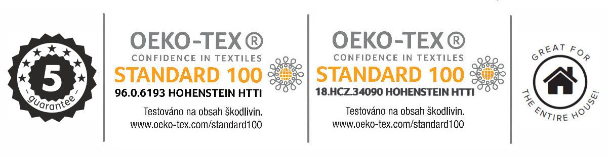Koupelnové předložky certifikát kvality